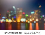 Blurred Lighhts From City At...
