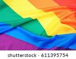 Fabric Texture Of Gay Rainbow...