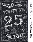 anniversary happy birthday card ...   Shutterstock .eps vector #611397014