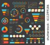 infographics set. funnel  chart ... | Shutterstock .eps vector #611399186