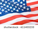 close up shot of wavy american... | Shutterstock . vector #611403233
