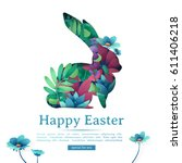 design template banner for... | Shutterstock .eps vector #611406218