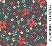 seamless floral pattern. vector ...   Shutterstock .eps vector #611407820
