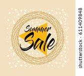 summer sale banner design... | Shutterstock .eps vector #611409848