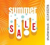 summer sale banner design... | Shutterstock .eps vector #611410256
