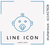 line icon  baby | Shutterstock .eps vector #611417828