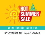 summer sale banner design... | Shutterstock .eps vector #611420336
