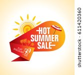 summer sale banner design... | Shutterstock .eps vector #611420360
