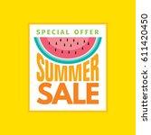 summer sale banner design... | Shutterstock .eps vector #611420450