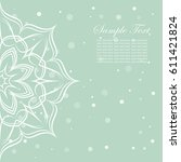 invitation card with lace... | Shutterstock .eps vector #611421824