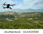modern rc drone   quadcopter... | Shutterstock . vector #611424500
