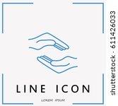 line icon  hands | Shutterstock .eps vector #611426033