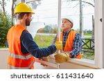 modernization and mount of new... | Shutterstock . vector #611431640
