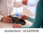 wireless payment using... | Shutterstock . vector #611435438
