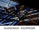toned multiple exposure photo... | Shutterstock . vector #611443160