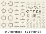 circle and square wicker... | Shutterstock .eps vector #611448419