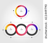 infographic option banner with... | Shutterstock .eps vector #611449790