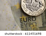 new one pound sterling coin and ...   Shutterstock . vector #611451698