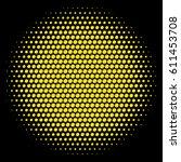 golden ball. abstract yellow... | Shutterstock .eps vector #611453708