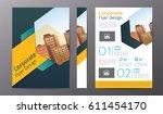 business brochure or flyer... | Shutterstock .eps vector #611454170