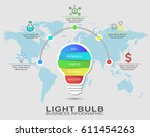 business startup idea  lamp... | Shutterstock .eps vector #611454263