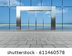 buildings and clean road... | Shutterstock . vector #611460578