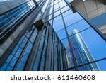 low angle view of skyscrapers... | Shutterstock . vector #611460608