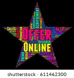 offer word cloud colorful text... | Shutterstock .eps vector #611462300