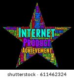 internet word cloud colorful... | Shutterstock .eps vector #611462324