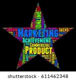 marketing word cloud colorful... | Shutterstock .eps vector #611462348
