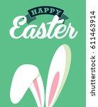 easter greetings template... | Shutterstock .eps vector #611463914