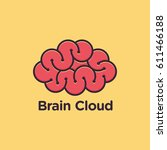 brain cloud logo vector | Shutterstock .eps vector #611466188