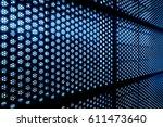 circle pattern  modern building ... | Shutterstock . vector #611473640