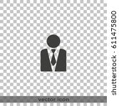 icon of businessman. | Shutterstock .eps vector #611475800