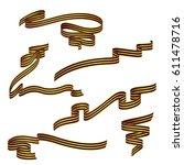 saint george ribbons set... | Shutterstock .eps vector #611478716