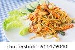 Spicy Stir Fried Spaghetti Wit...
