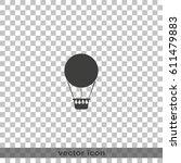 hot air balloon icon.   Shutterstock .eps vector #611479883
