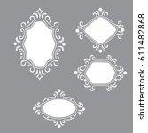white frames vector | Shutterstock .eps vector #611482868