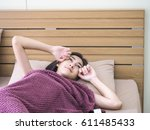 wake up from bed in morning... | Shutterstock . vector #611485433