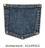 Jeans pocket. - stock photo