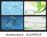 set of colorful business cards | Shutterstock .eps vector #61149919