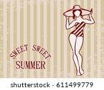 Sweet Summer Vintage Greeting...