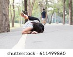 accident. stumble and fall... | Shutterstock . vector #611499860