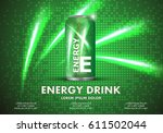 energy drink on sparkly and... | Shutterstock .eps vector #611502044