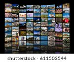 video wall concept made of a... | Shutterstock . vector #611503544