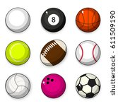 vector set of balls | Shutterstock .eps vector #611509190