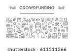 line web banner for... | Shutterstock . vector #611511266