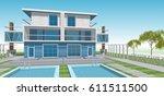 townhouse  3d illustration | Shutterstock . vector #611511500
