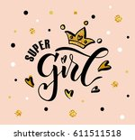 vector illustration of super... | Shutterstock .eps vector #611511518