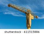 yellow crane titan in nantes ...   Shutterstock . vector #611515886